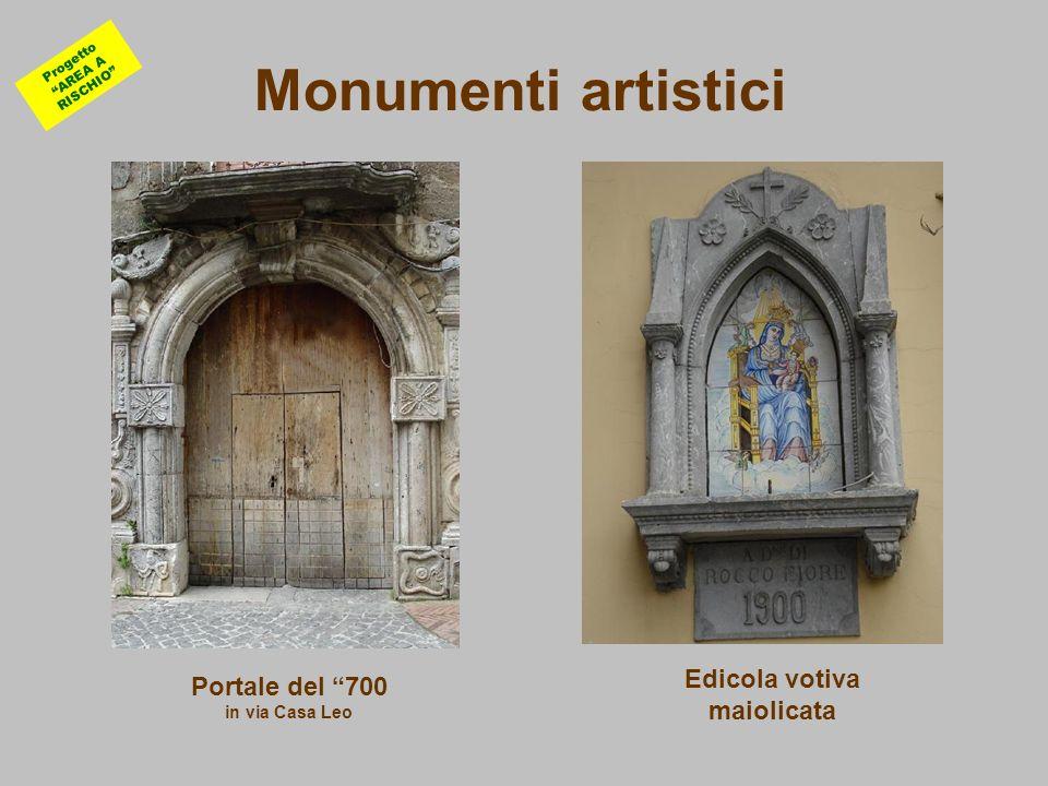Monumenti artistici Edicola votiva maiolicata