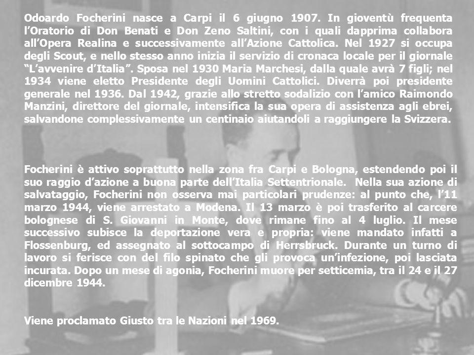 Odoardo Focherini nasce a Carpi il 6 giugno 1907