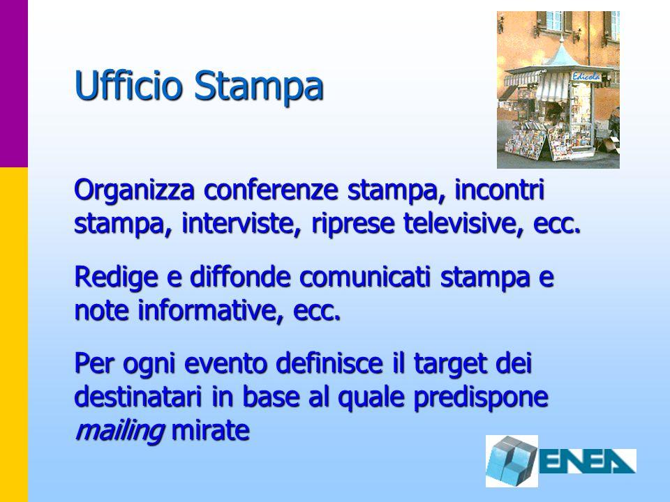 Ufficio Stampa Organizza conferenze stampa, incontri stampa, interviste, riprese televisive, ecc.