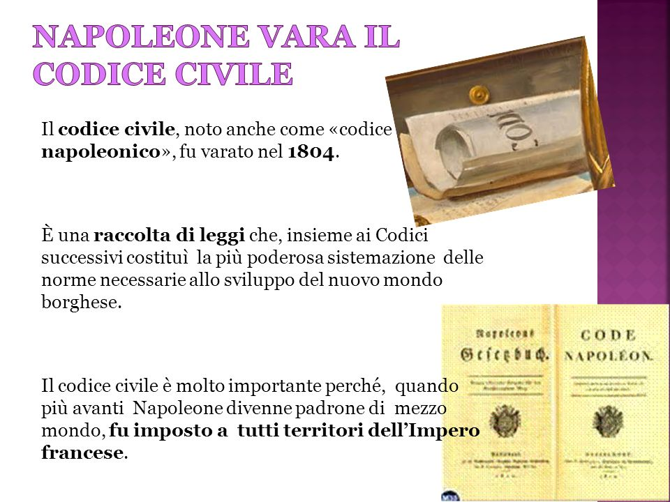Napoleone vara il codice civile