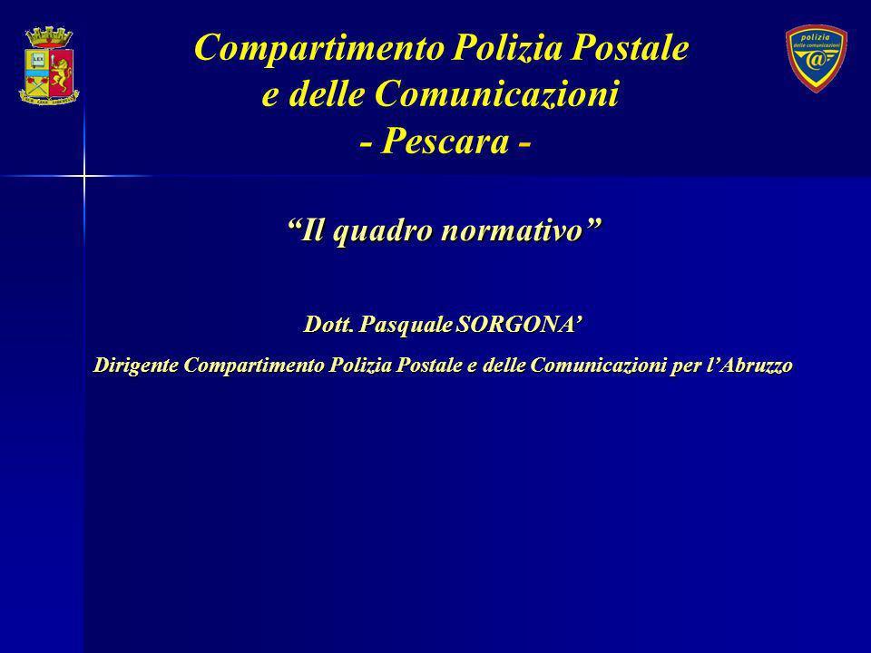 Compartimento Polizia Postale Dott. Pasquale SORGONA'