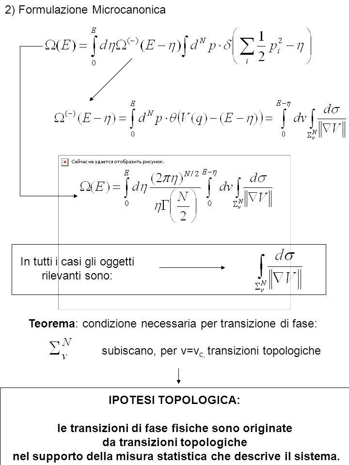 2) Formulazione Microcanonica