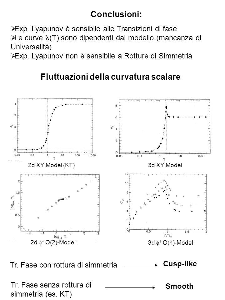 Fluttuazioni della curvatura scalare
