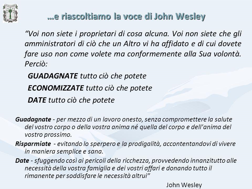 …e riascoltiamo la voce di John Wesley