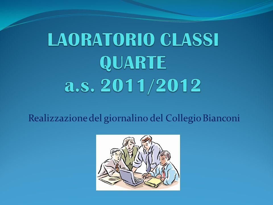 LAORATORIO CLASSI QUARTE a.s. 2011/2012