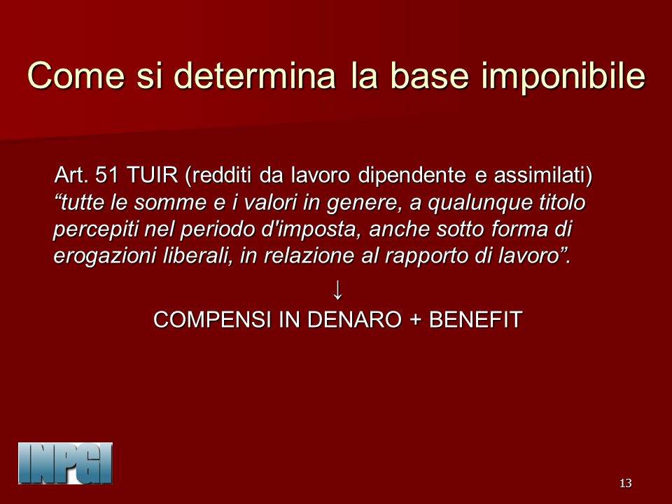 Come si determina la base imponibile