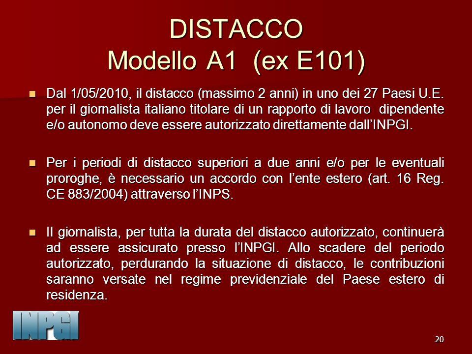 DISTACCO Modello A1 (ex E101)