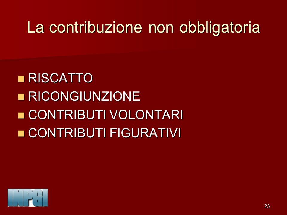 La contribuzione non obbligatoria