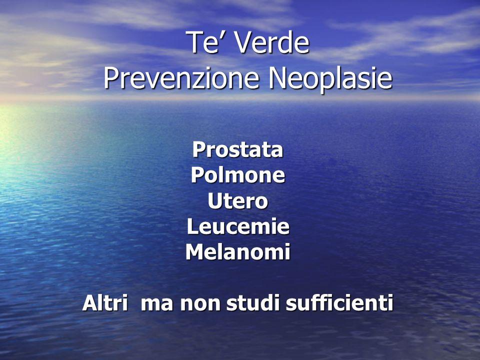 Te' Verde Prevenzione Neoplasie