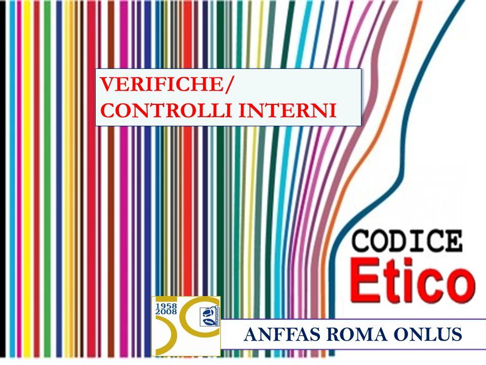 ANFFAS ROMA ONLUS VERIFICHE/ CONTROLLI INTERNI