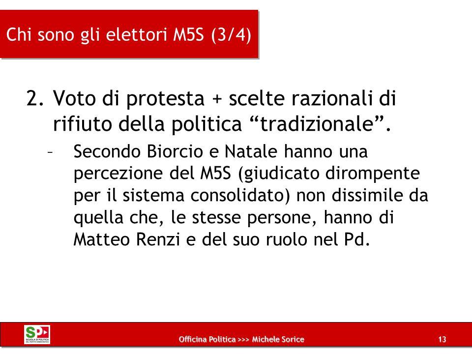Chi sono gli elettori M5S (3/4)
