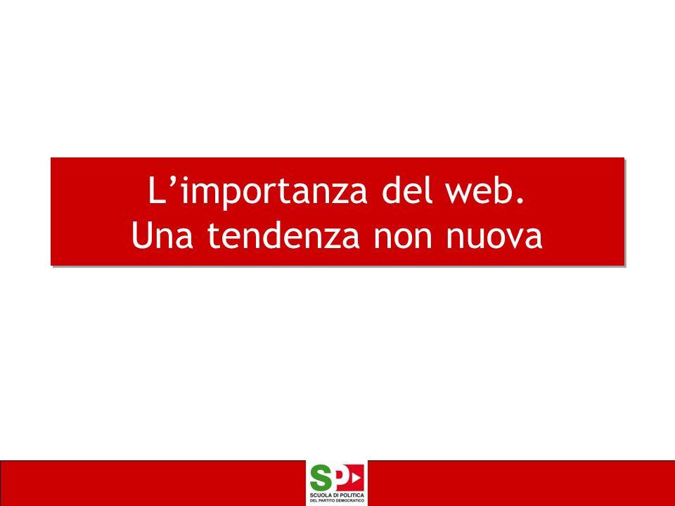 L'importanza del web. Una tendenza non nuova