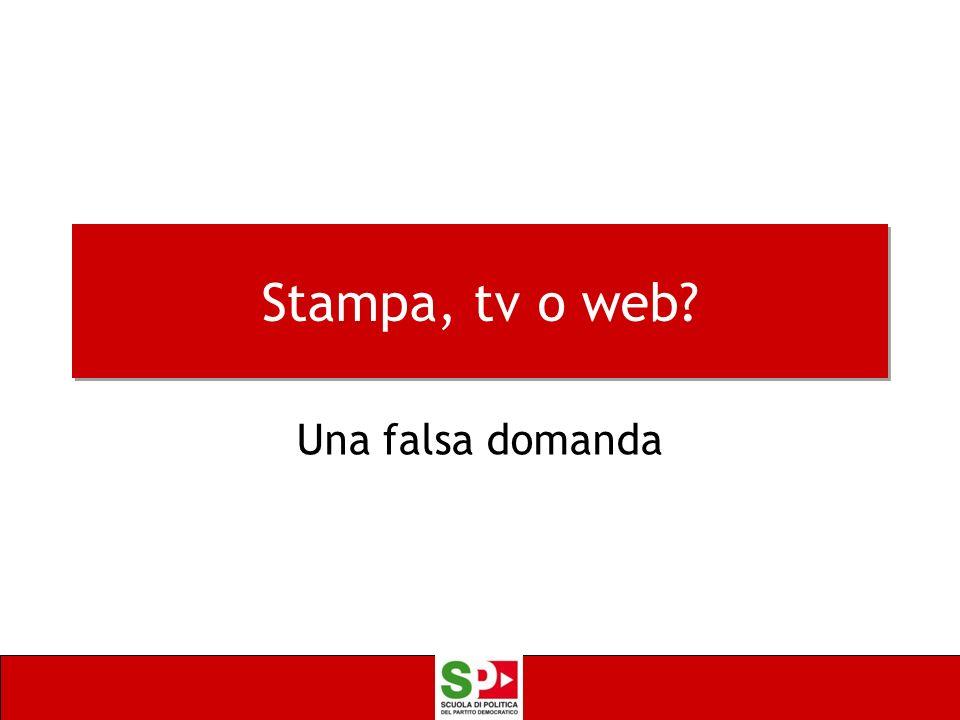 Stampa, tv o web Una falsa domanda