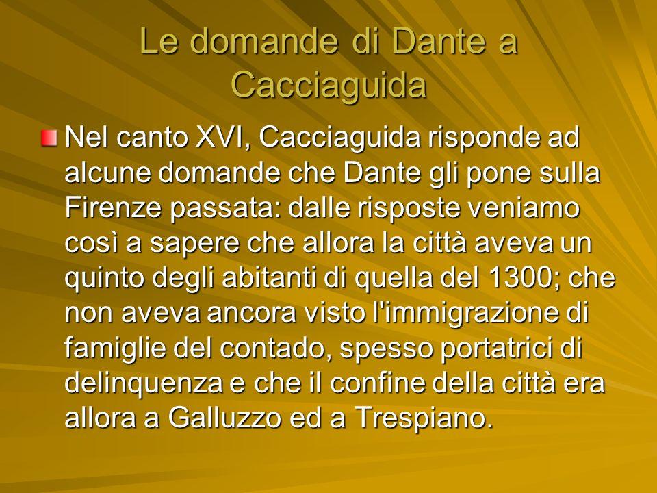 Le domande di Dante a Cacciaguida