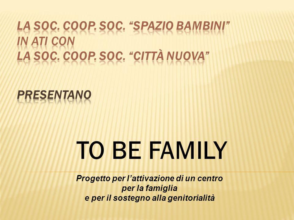 LA SOC. COOP. SOC. SPAZIO BAMBINI in ATI con LA SOC. COOP. SOC