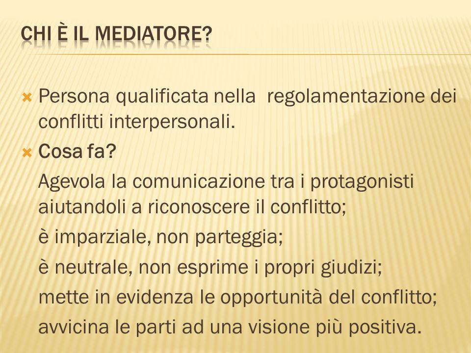 Chi è il mediatore Persona qualificata nella regolamentazione dei conflitti interpersonali. Cosa fa