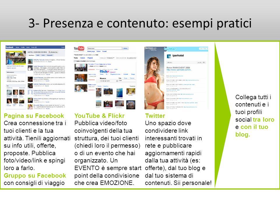 3- Presenza e contenuto: esempi pratici