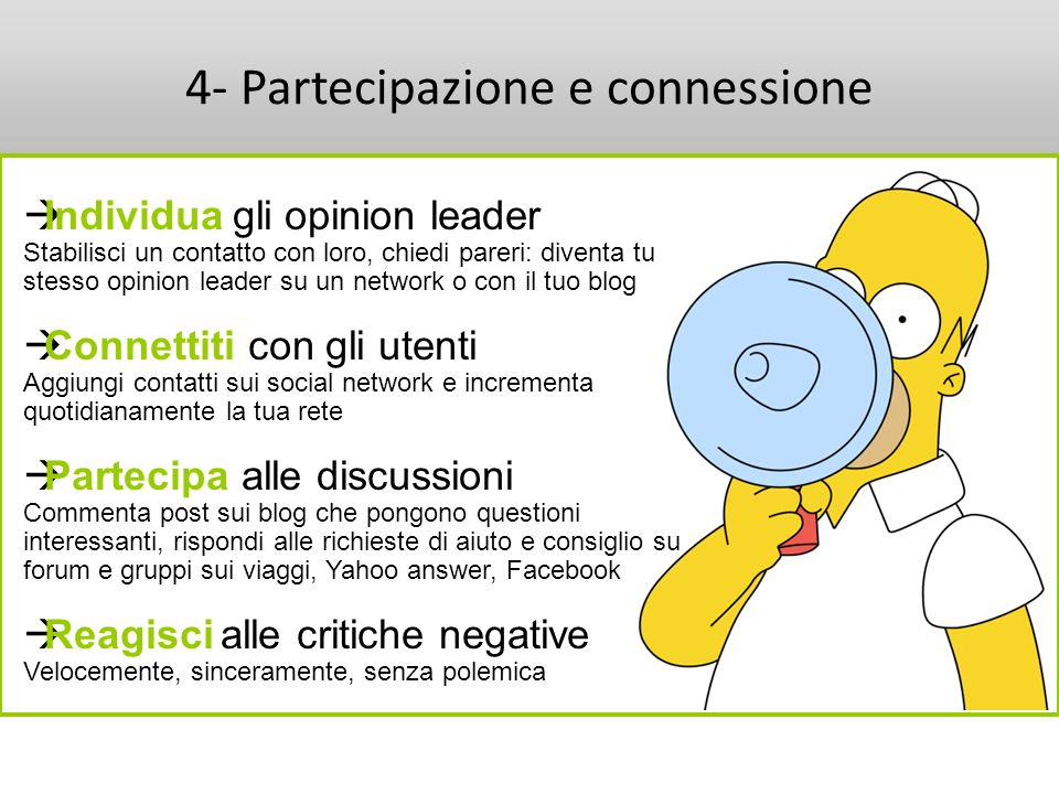 4- Partecipazione e connessione