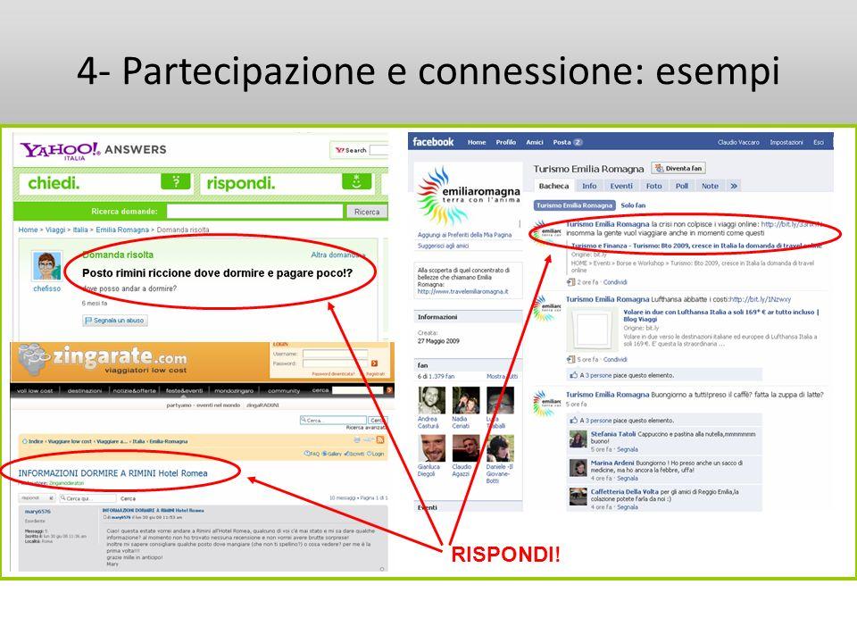 4- Partecipazione e connessione: esempi