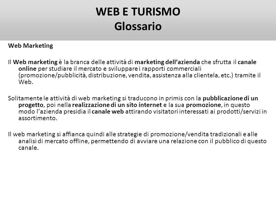 WEB E TURISMO Glossario