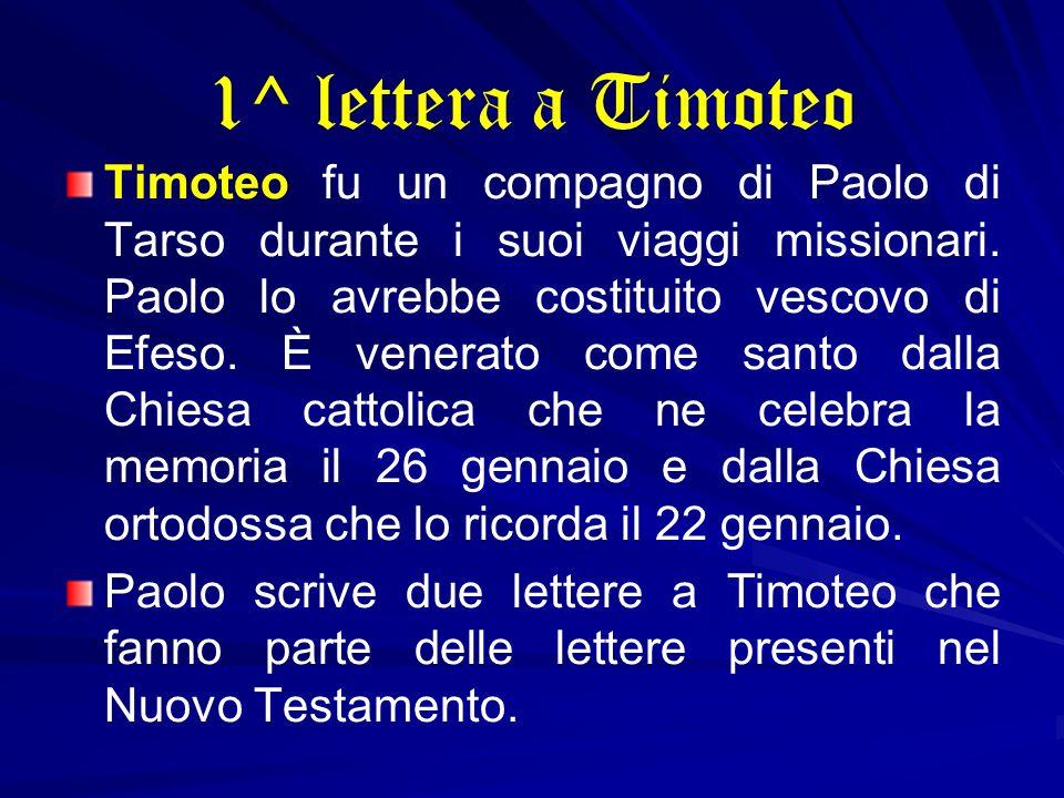 1^ lettera a Timoteo