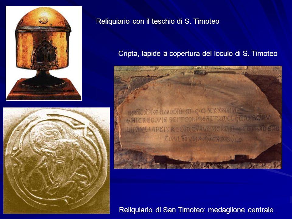 Cripta, lapide a copertura del loculo di S. Timoteo