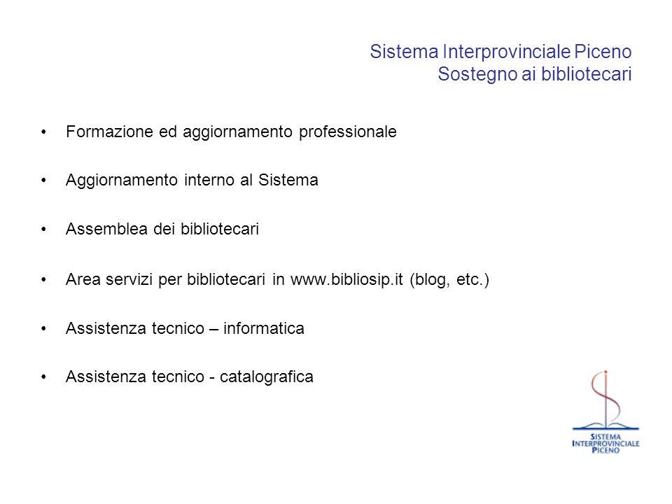 Sistema Interprovinciale Piceno Sostegno ai bibliotecari