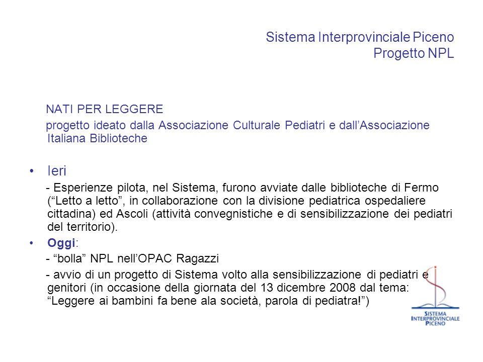 Sistema Interprovinciale Piceno Progetto NPL