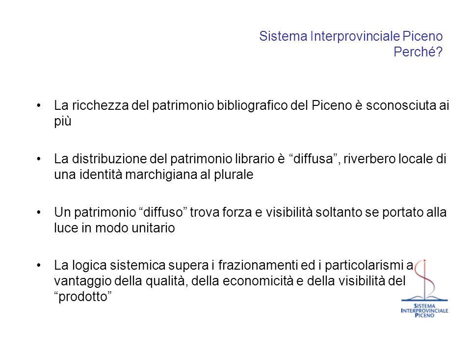 Sistema Interprovinciale Piceno Perché