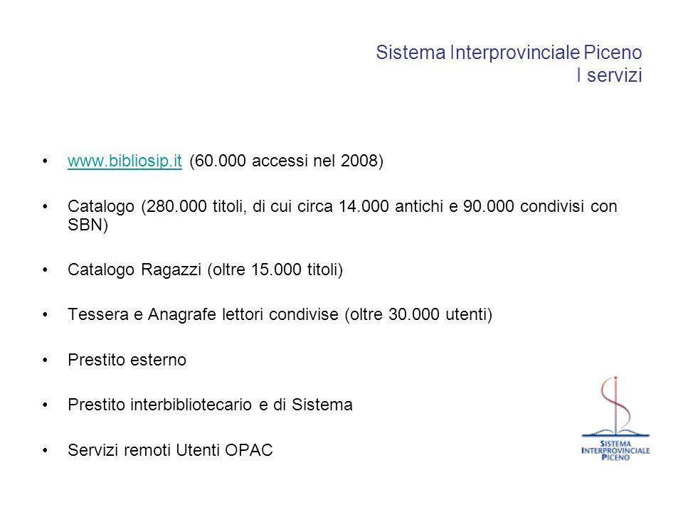 Sistema Interprovinciale Piceno I servizi