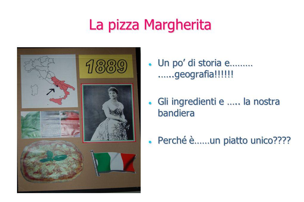 La pizza Margherita Un po' di storia e……… .…..geografia!!!!!!