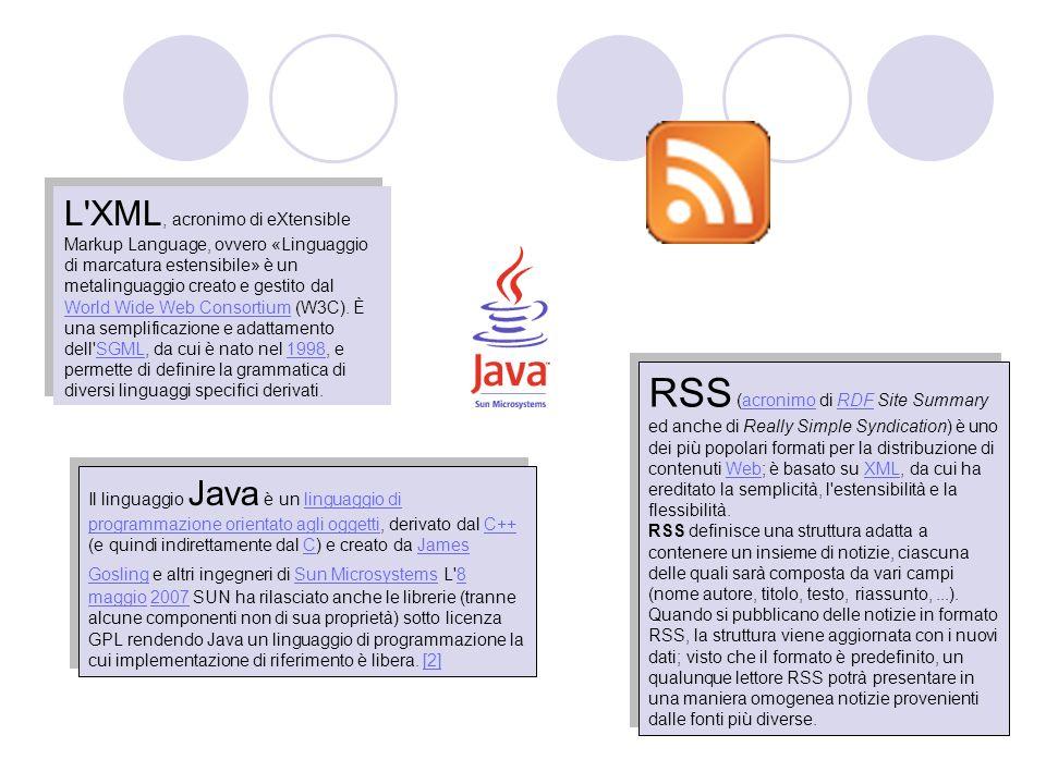L XML, acronimo di eXtensible Markup Language, ovvero «Linguaggio di marcatura estensibile» è un metalinguaggio creato e gestito dal World Wide Web Consortium (W3C). È una semplificazione e adattamento dell SGML, da cui è nato nel 1998, e permette di definire la grammatica di diversi linguaggi specifici derivati.