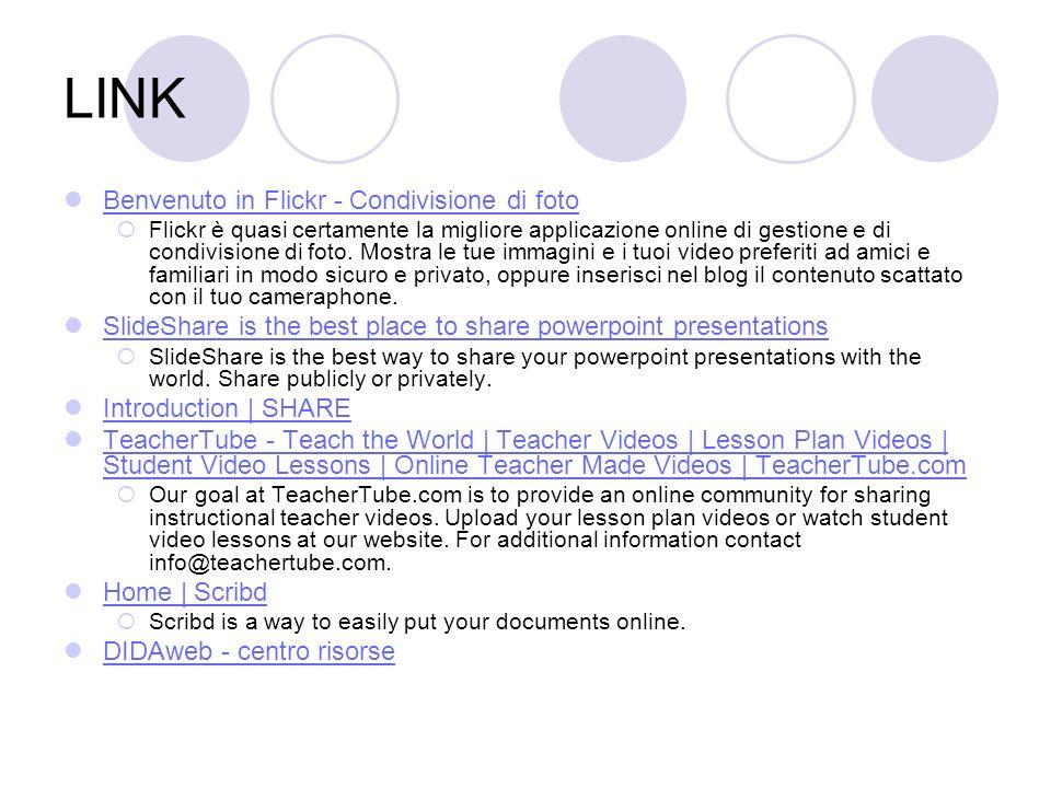 LINK Benvenuto in Flickr - Condivisione di foto