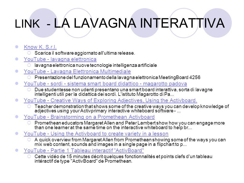 LINK - LA LAVAGNA INTERATTIVA