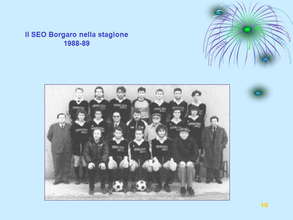 Il SEO Borgaro nella stagione 1988-89