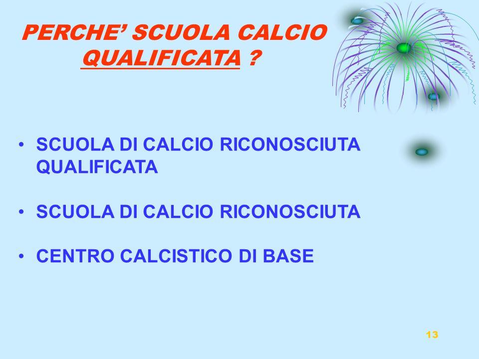 PERCHE' SCUOLA CALCIO QUALIFICATA