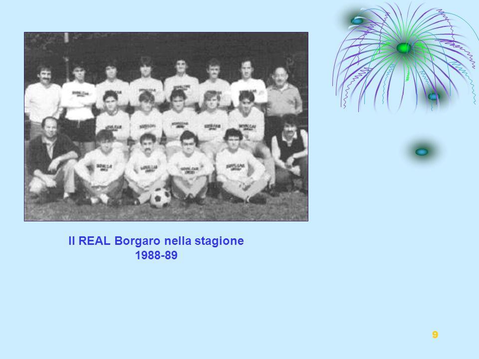 Il REAL Borgaro nella stagione 1988-89