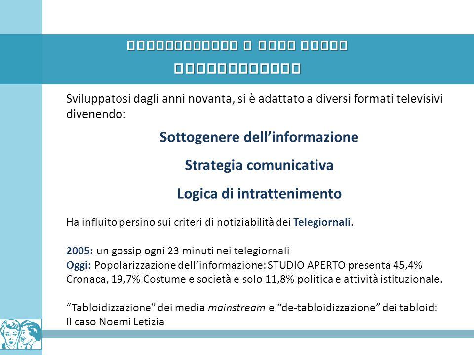 INFOTAINMENT Pettegolezzo e News Media Sottogenere dell'informazione