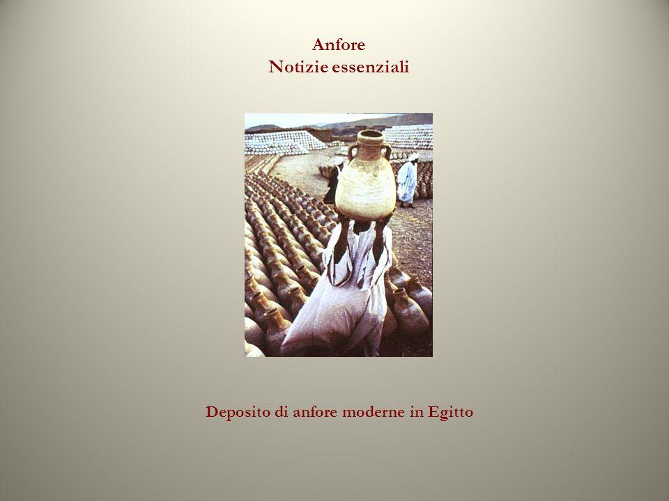 Anfore Notizie essenziali Deposito di anfore moderne in Egitto