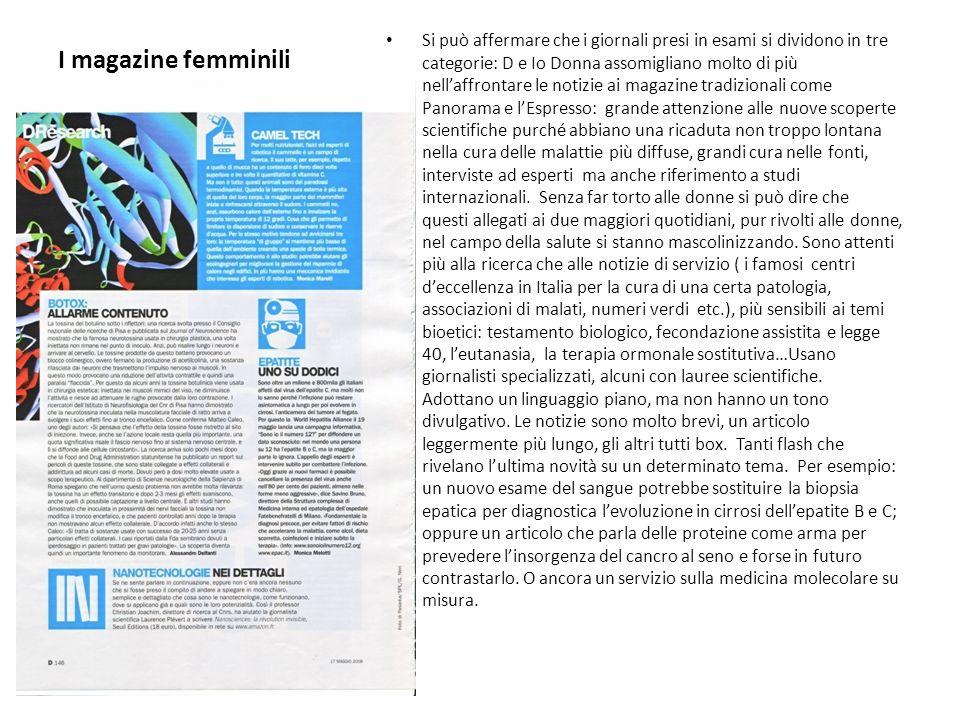 I magazine femminili
