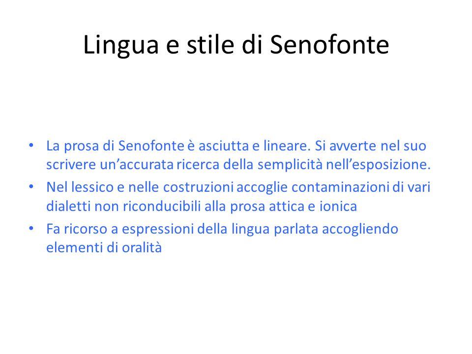 Lingua e stile di Senofonte