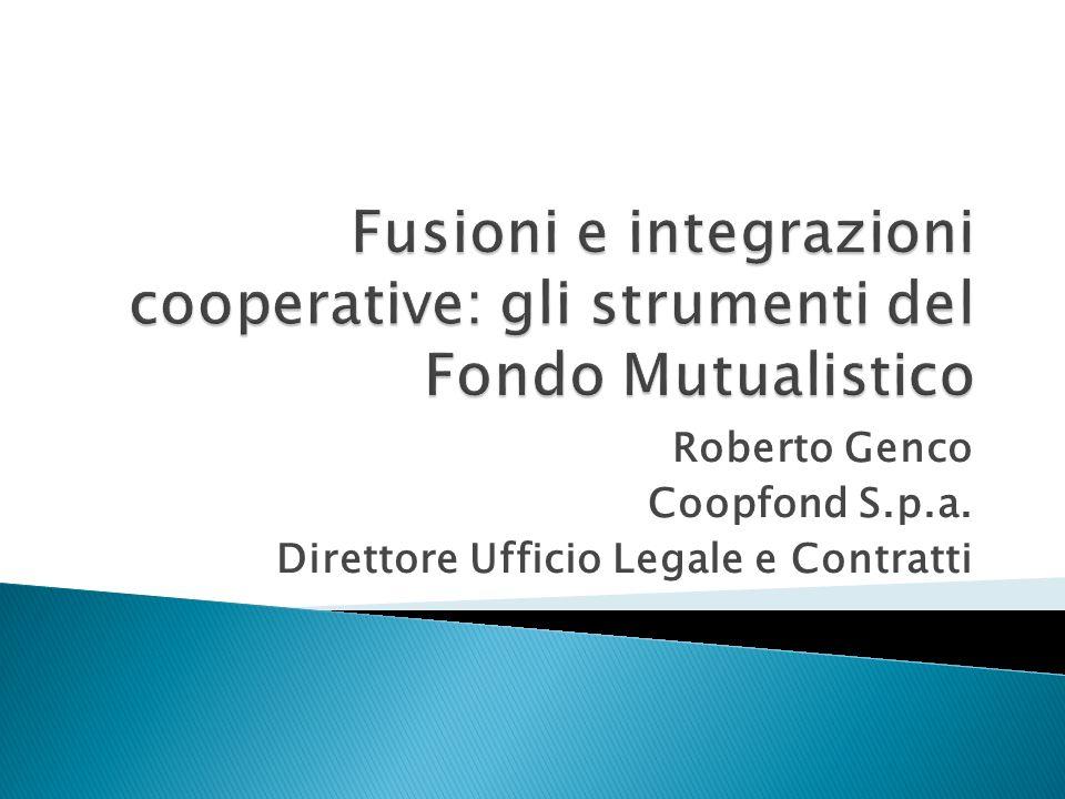 Roberto Genco Coopfond S.p.a. Direttore Ufficio Legale e Contratti