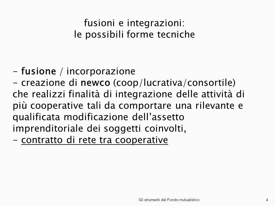 fusioni e integrazioni: le possibili forme tecniche