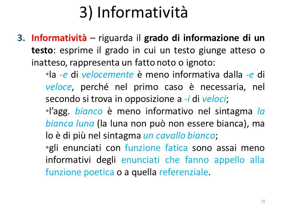 3) Informatività