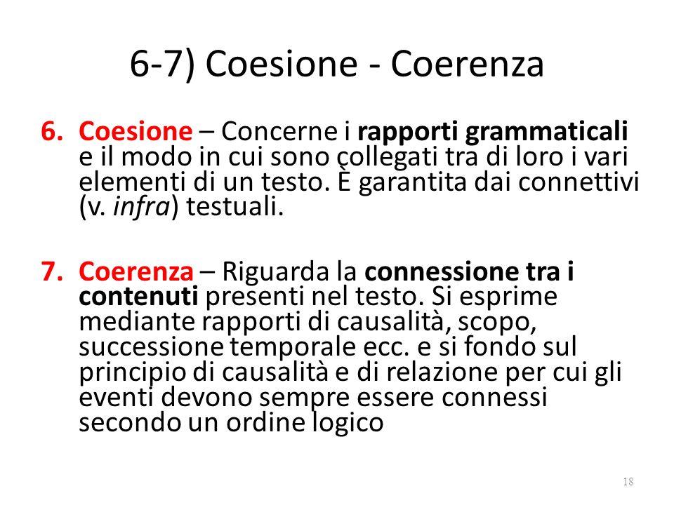 6-7) Coesione - Coerenza
