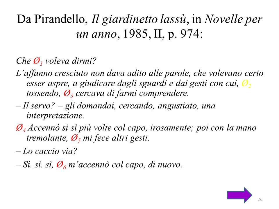Da Pirandello, Il giardinetto lassù, in Novelle per un anno, 1985, II, p. 974: