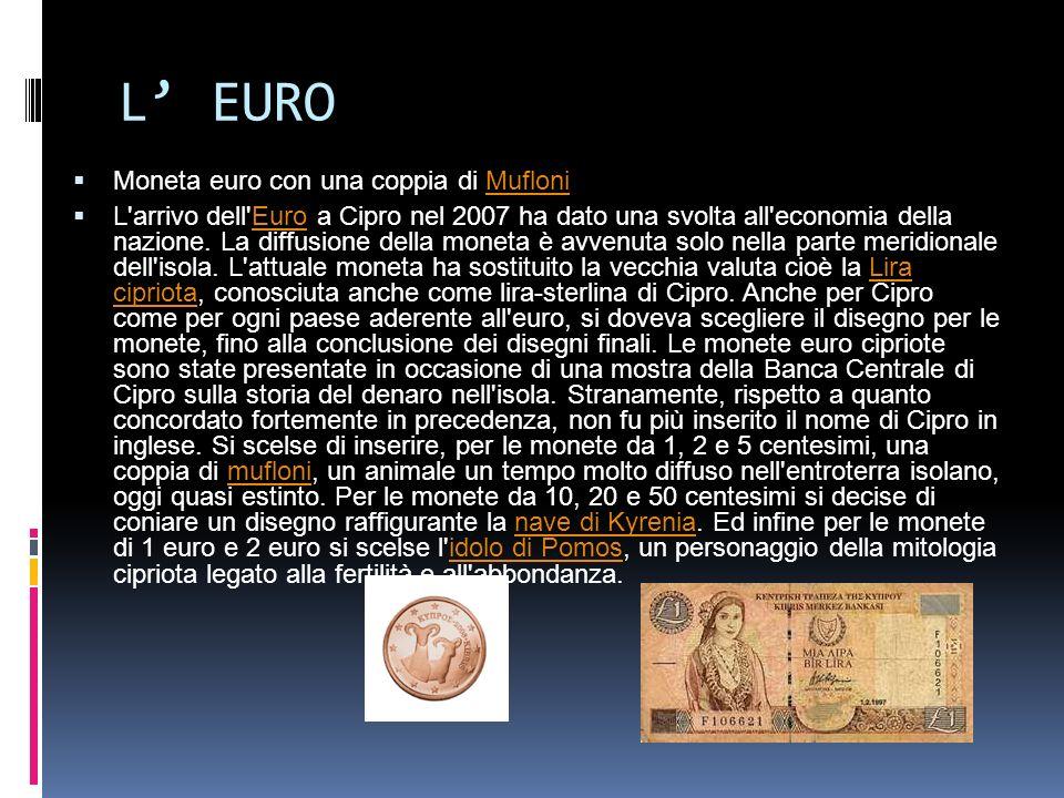 L' EURO Moneta euro con una coppia di Mufloni