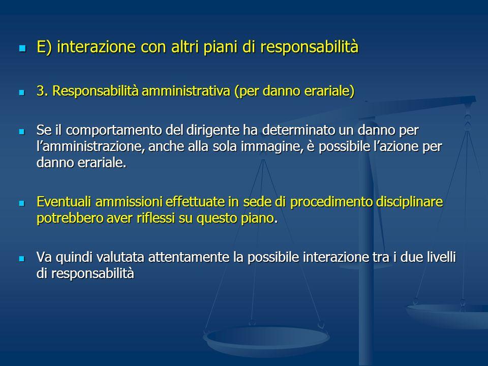 E) interazione con altri piani di responsabilità