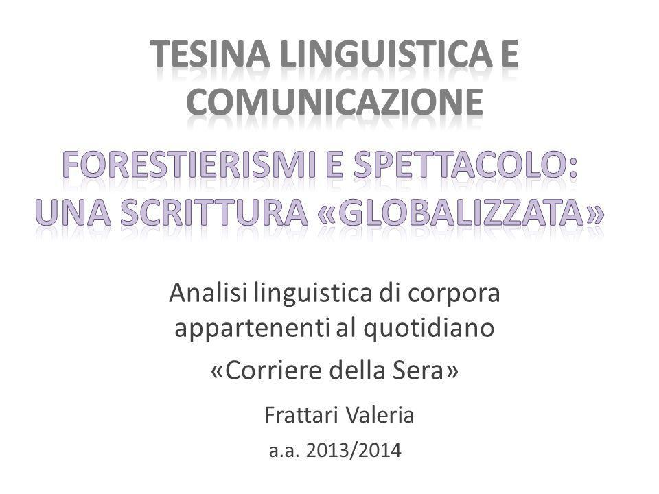 Tesina Linguistica e Comunicazione