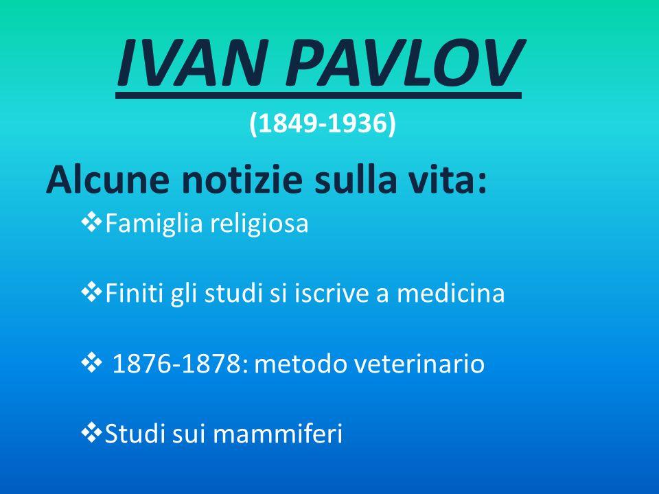 IVAN PAVLOV (1849-1936) Alcune notizie sulla vita: Famiglia religiosa